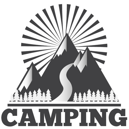 icon set camping Illustration