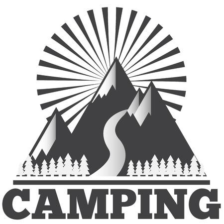icon set camping Ilustracja