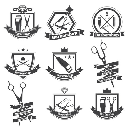 barber pole: collection logo for your barbershop