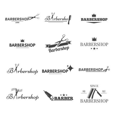 barbero: Logotipo de la colección para su barbería