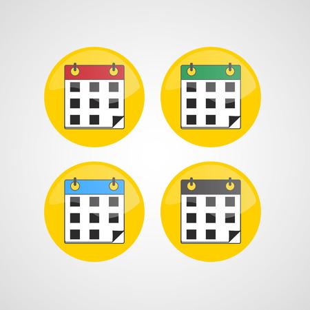 calender icon: Calendar icons set