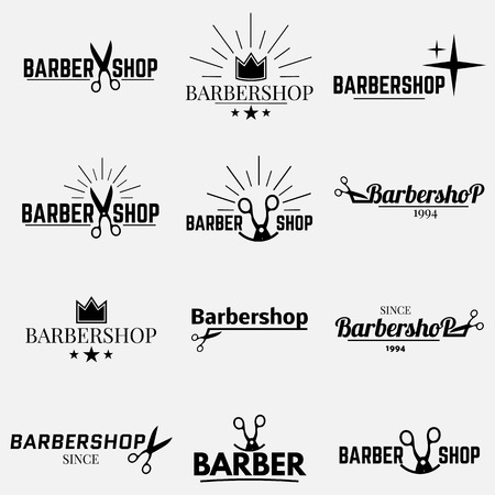 barbershop: collection   for your barbershop Illustration