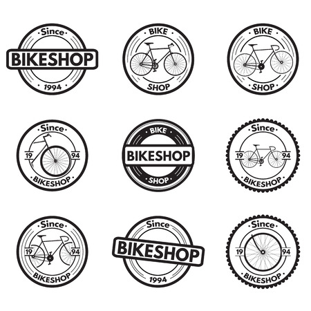 applied: Vintage bicycle icons that can be applied design Illustration