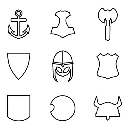 thor's: Vector set medieval weapon icons
