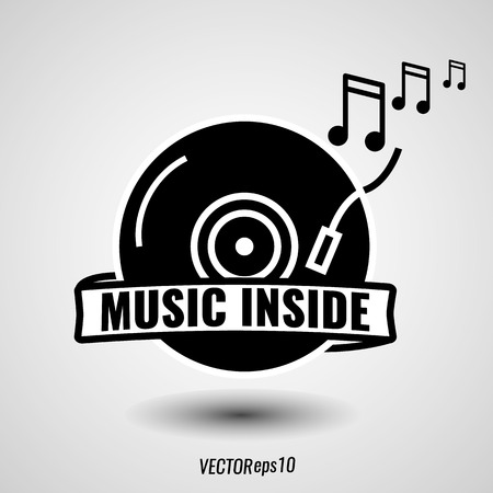 applied: Vintage music icon that can be applied design Illustration