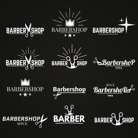 appearance: collection logo, emblems for your barbershop