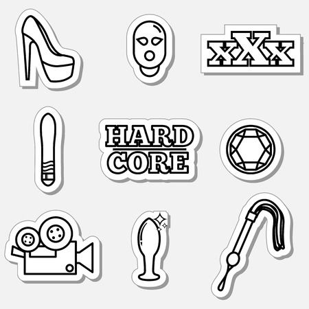 female sex: Sex icons that can be used for design Illustration