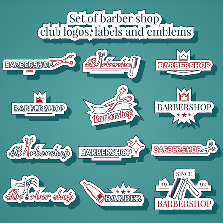 barbershop: collection logo for your barbershop