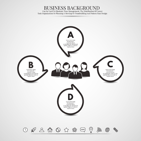 infomation: Business background - can be used to illustrate time management, the distribution of career, task organization or planning a meeting or teambuilding and pattern your design