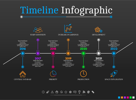orginal: Timeline Infographic design templates # 3. With paper tags. Idea to display information, ranking and statistics with orginal and modern style. Illustration