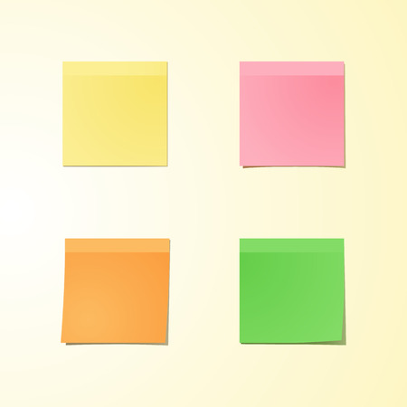 note pad: Yellow stick note isolated on white background, vector illustration Illustration