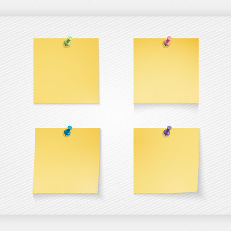 stick note: Yellow stick note isolated on white background, vector illustration Illustration