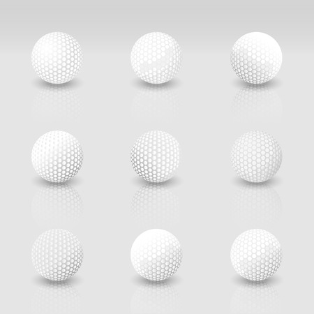 golf ball: Interpretaci�n realista de la pelota de golf cerca la textura Vectores