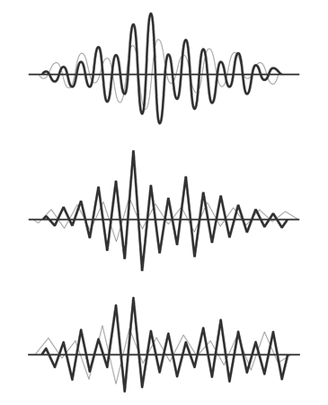 sonic: Vector sound waves set. Audio Player. Audio equalizer technology, pulse musical. Vector illustration.