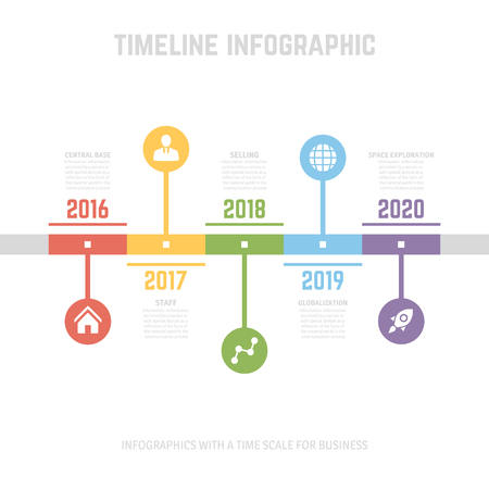 orginal: Timeline Infographic design templates. With paper tags. Idea to display information, ranking and statistics with orginal and modern style. Illustration