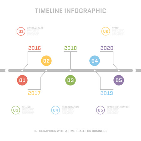 Timeline Infographic Design Templates . With Paper Tags. Idea ...