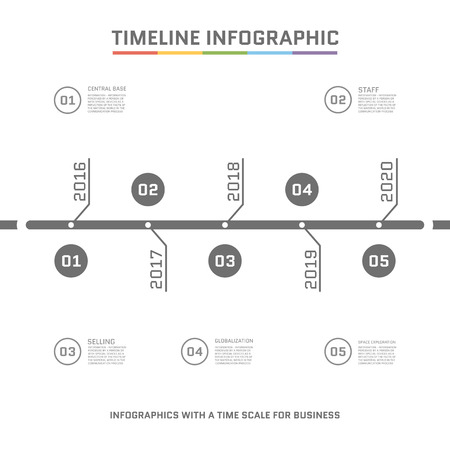 orginal: Timeline Infographic design templates . With paper tags. Idea to display information, ranking and statistics with orginal and modern style. Illustration