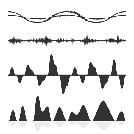 sonic: The equalizer, equalizer set,  icon set, vector set of waves, vector icons set waves, musical wave, sound waves, audio wave icon set, Audio equalizer technology, pulse musical , pulse musical set. Illustration