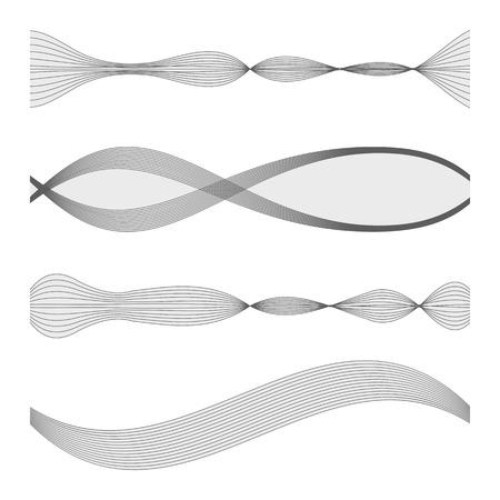 audio wave: The equalizer, equalizer set,  icon set, vector set of waves, vector icons set waves, musical wave, sound waves, audio wave icon set, Audio equalizer technology, pulse musical , pulse musical set. Illustration