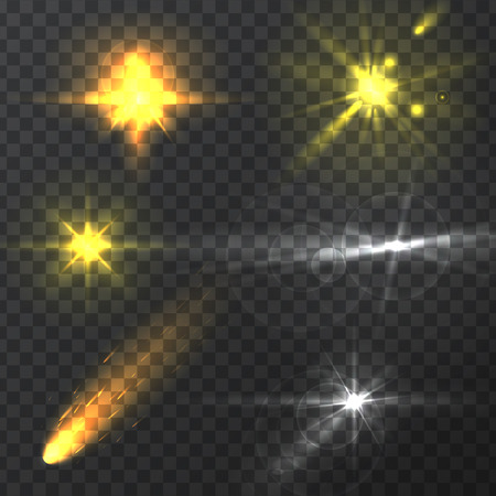 luminescence: light effects, realistic lighting effect , light glow effect , vector glow luminescence for design, illustration of a set of light and glow effect,  Glowing stars,  Lights and Sparkles  effect,