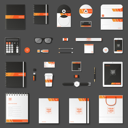 Corporate identity in 3D style