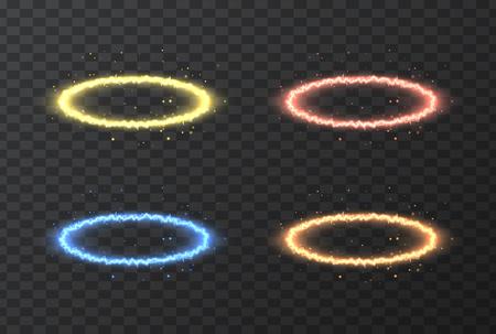 Vector lightning image, natural light, energy illustration, on a transparent background. Tool design element.