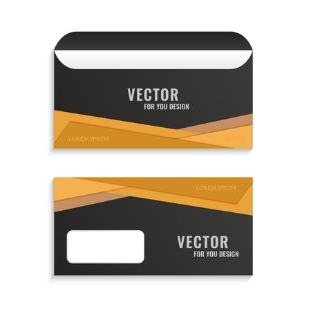 further: Illustration with the image of several options business envelopes.Used for further design with your logo. Illustration