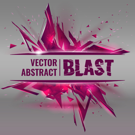 abstract image of explosion, illustration background, dark matter, the explosion effect. Illustration