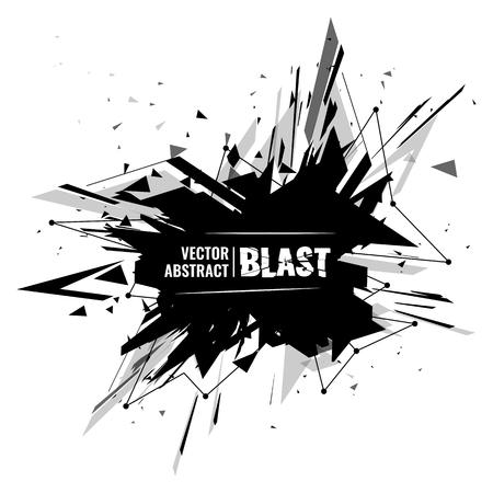 matter: abstract image of explosion, illustration background, dark matter, the explosion effect. Illustration