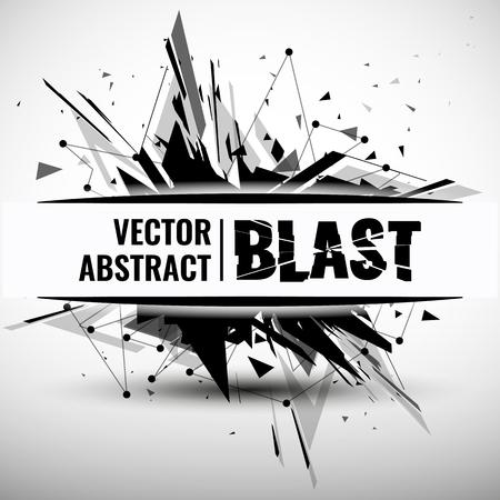shatter: abstract image of explosion, illustration background, dark matter, the explosion effect. Illustration