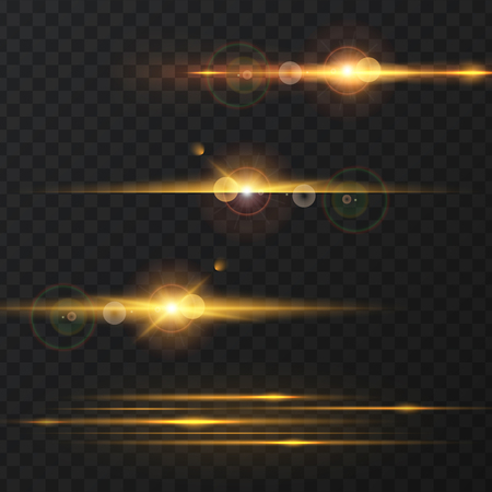 Set Of Abstract Lens Flares.Design Spare. Glowing Stars . Lights And  Sparkles On