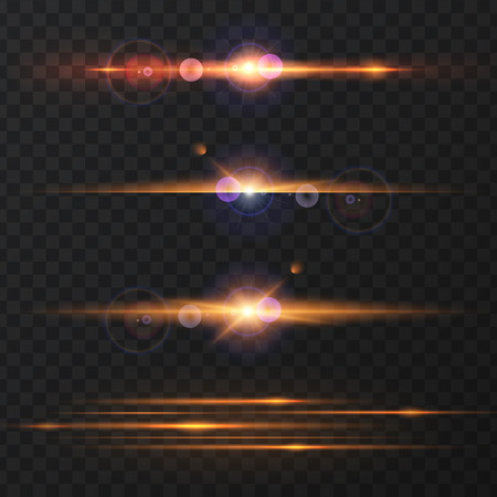 spare: Set of Abstract Lens Flares.Design spare. Glowing stars . Lights and Sparkles on Transparent Background. Transparent Light Effects for Your Design. Illustration