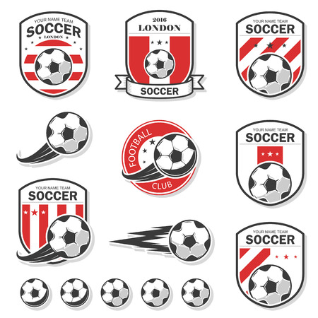 collegiate: Vector illustration set of football theme, as well as items for the game of football. Illustration
