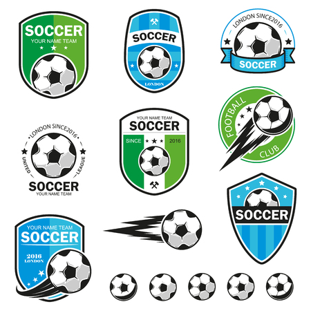 Vector illustration set of football theme
