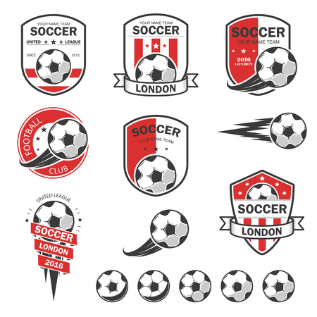 Vector illustration set of football theme