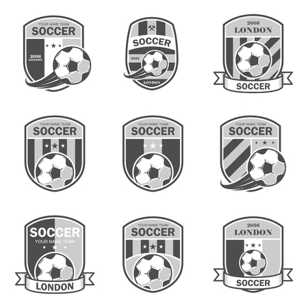 collegiate: Vector illustration set of football theme