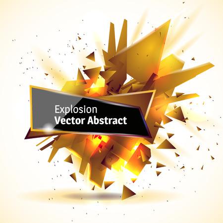 matter: illustration abstract object, explosion substance matter.