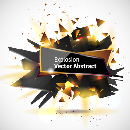 illustration abstract object, explosion substance matter