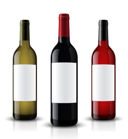 Vector, wine bottle, made in a realistic style. on a white background. It can serve as a layout for future design and Publicity of your product. Illustration