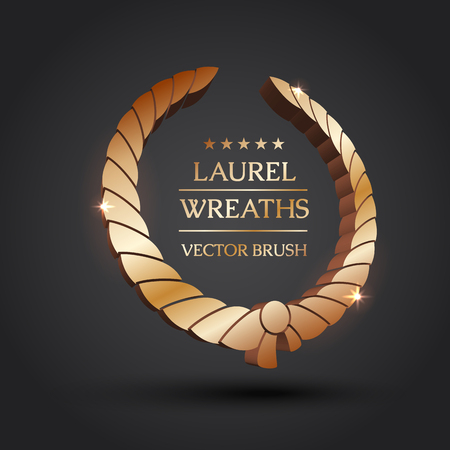 Wreath Vector Icon Set Urel Wreaths Symbol Of Victory Glory