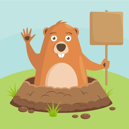 Groundhog Day, celebratory background.