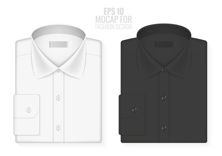 Design a classic shirt. Vector illustration. Realistic graphics, mesh effect. Layout clothes, empty mock up for design. Fashion Style.