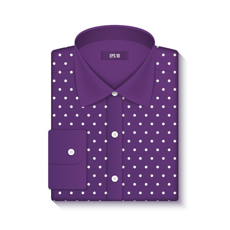 button up shirt: Design a classic shirt. Vector illustration. Realistic graphics, mesh effect. Layout clothes, empty mock up for design. Fashion Style.
