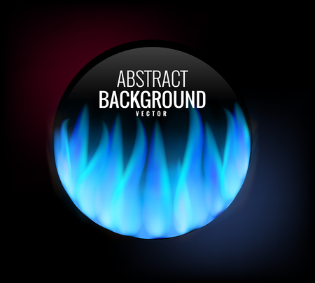 burning paper: Empty space for an inscription with burning paper. Vector graphics with realistic effects of fire, flame, light. Design element. A background for your label. Burning paper effect.