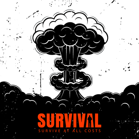 Set of icons on the theme of survival. Illustration