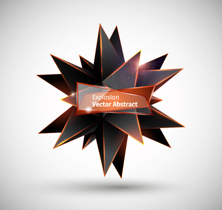 solid figure: Esplosione astratta. Vector poliedro.