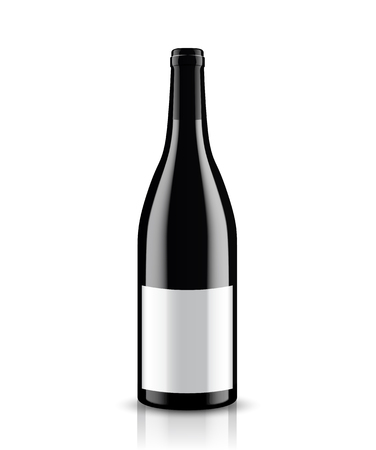 Vector, wine bottle, made in a realistic style. on a white background. It can serve as a layout for future design and Publicity of your product. Banco de Imagens - 76493996