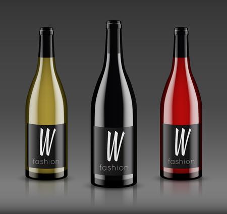 Mockup 와인 병입니다. 벡터 디자인. 일러스트