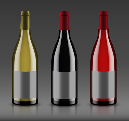 Vector, wine bottle, made in a realistic style. on a white background. It can serve as a layout for future design and Publicity of your product. Ilustração