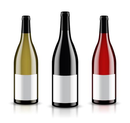 Mockup wijnfles. vector ontwerp.